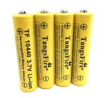 4PCS TangsFire 3.7V 10440 Li-ion battery 600mAh AAA Rechargeable Battery  стоимость