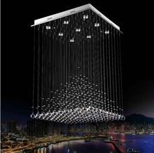 Современные светодиодные люстры Роскошные потолочный светильник Современный дом украшения Пирамида дизайн кристалл k9 светильник Бесплатная доставка