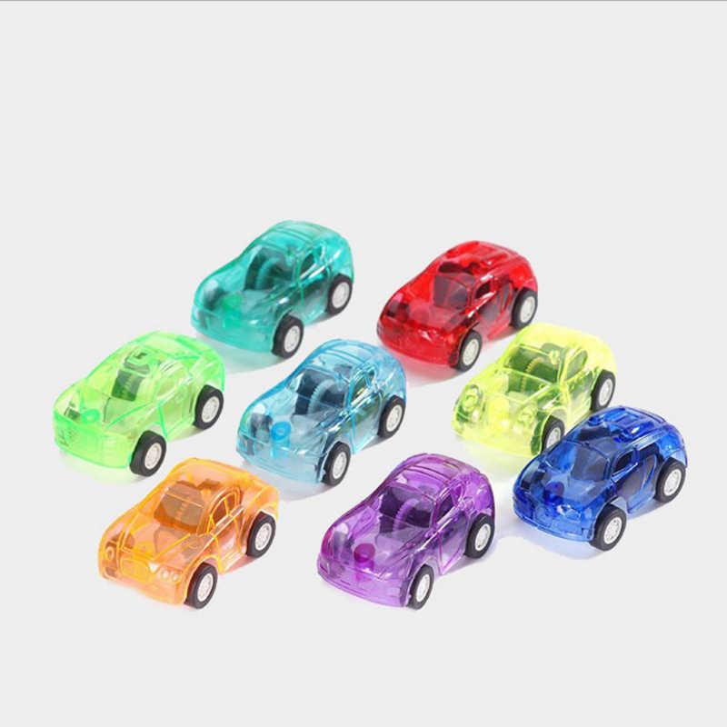 Transparente Puxar Carros de Brinquedo De Plástico Bonito Joaninha Rodas Mini Modelo de Carro Carros para Criança Engraçado Crianças Brinquedos para Meninos brinquedos meninas