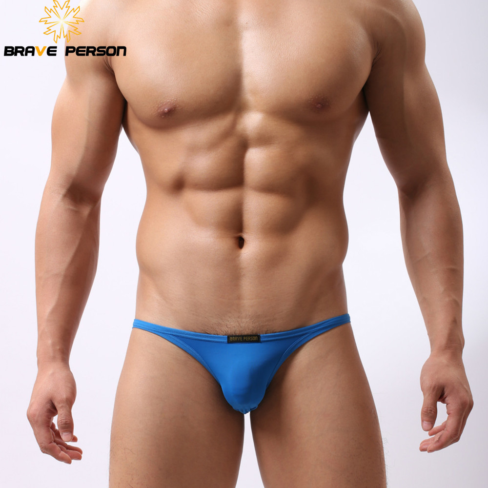 Brave Person Men Underwear Brief Ice Silk  Mini Men Briefs Sexy Low Waist Gay Underpants Seamless Male Panties Penis Pouch Slip