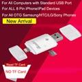 3in1 ireader tarjeta sd micro/tf lector usb para el ipad iphone 6 6 s plus 5 5S samsung s7 edge s6 s5 note 5 4 3 htc lg sony otg teléfono