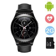 Smart watch g4 smartwatch unterstützung sim tf karte pulsmesser armbanduhr bluetooth sync notifier für samsung gear s2 android