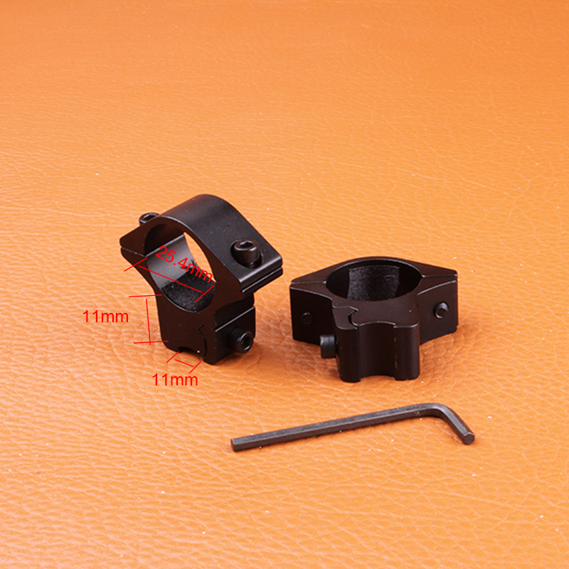 Hunting Gun Accessories 25 4mm 1 2PCs Low Narrow Profile Picatinny Weaver Rings Hunting Riflescope 11mm