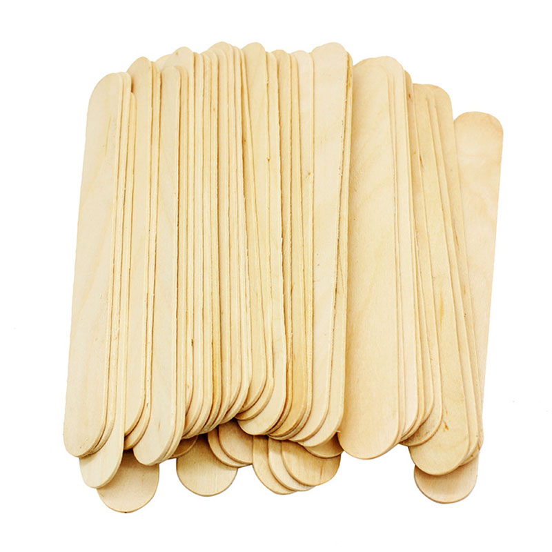 50x Disposable Waxing Wooden Tongue Depressor Body Hair Removal Stick Tongue Depressor image