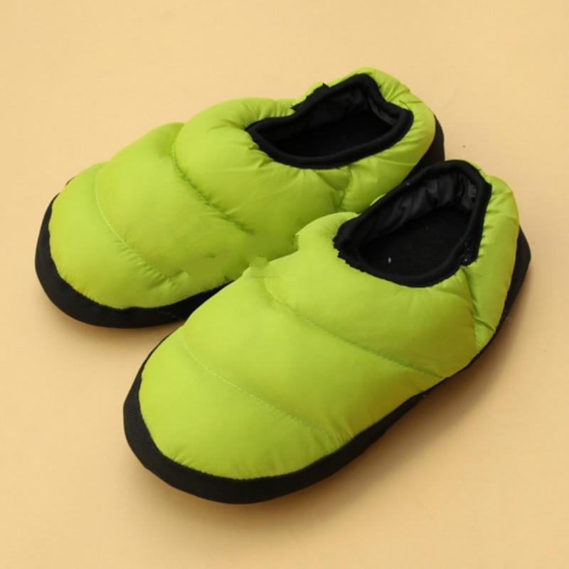 2018 Pouches met kleurrijke veren slippers leuke paar thuis katoenen - Damesschoenen - Foto 2