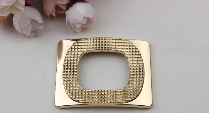 Бесплатная доставка (6 шт./партия) Золотая цепь квадратный обувь с пряжкой, обувь цветы, ювелирные изделия DIY сумки аксессуары