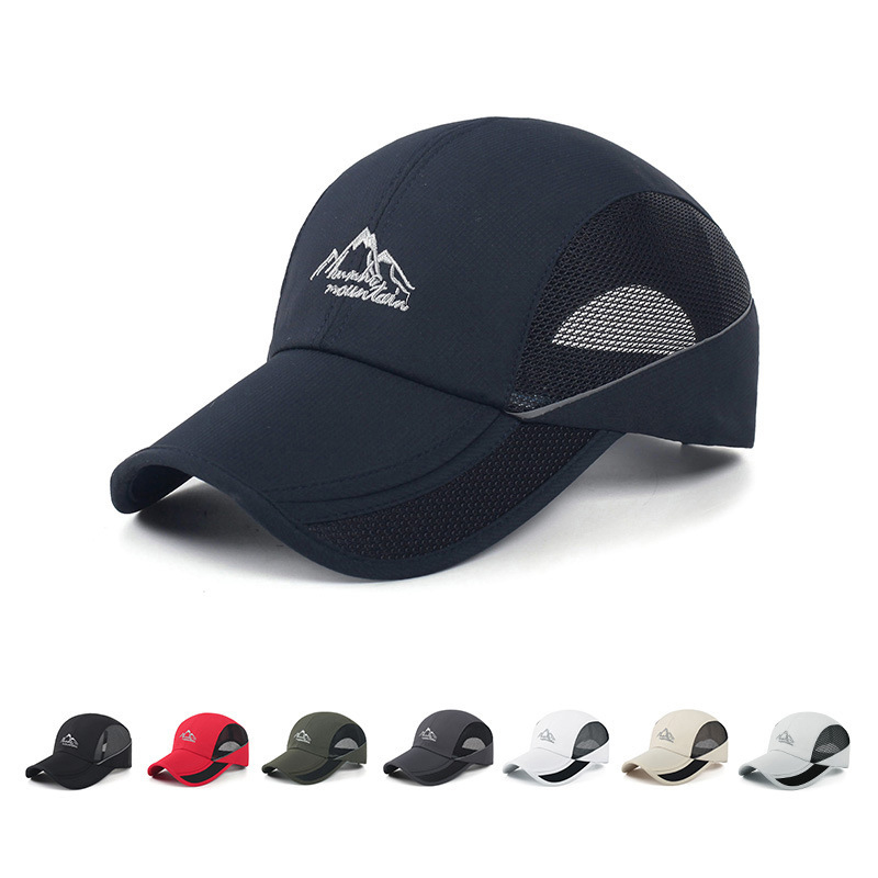 TUMBAK 8 Colors Sports Running Caps Adjustable Outdoors Visor Cap Summer  Sunhat Breathable Mesh Collapsible Hat Caps E515-in Running Caps from Sports  ... 5ff36f62cadf