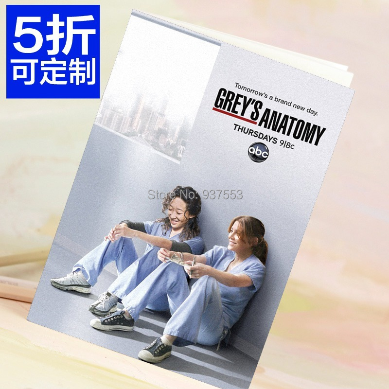 140x200 64 pages Greys anatomy abc hbo notebook solid color blank ...