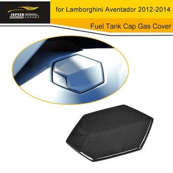 Z włókna węglowego korek zbiornika paliwa zbiornik gazu pokrywa wykończenia naklejki przypadku dla Lamborghini Aventador 2012-2014 akcesoria samochodowe
