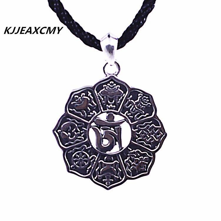 KJJEAXCMY S925 sterling silver jewelry wholesale Thai Silver Mens Pendant mantraKJJEAXCMY S925 sterling silver jewelry wholesale Thai Silver Mens Pendant mantra