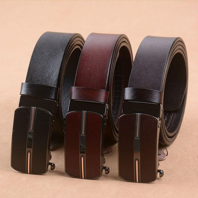 Correa de piel de vaca cinturones de cuero genuino para los hombres de la marca masculina de lujo de la vendimia del envío libre