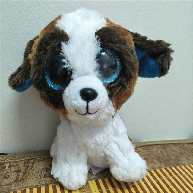 2016 TY BEANIE BABIES 15CM 6inch ROSCOE Dog Big Eyes Plush Toys Stuffed  animals children toy soft toy home decor 97886496adf