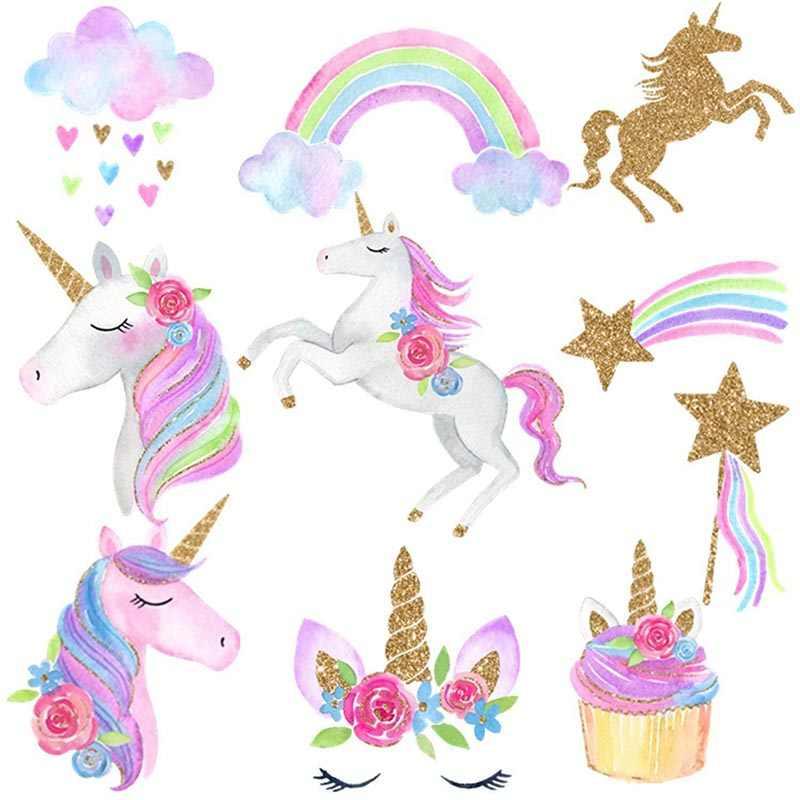 Kỳ Lân Đảng Treo Xoắn Ốc Xoáy Đồ Trang Trí Unicornio Đồ Trang Trí Trẻ Em Bé Gái Tắm Cho Bé 1st Sinh Nhật Tiếp Liệu