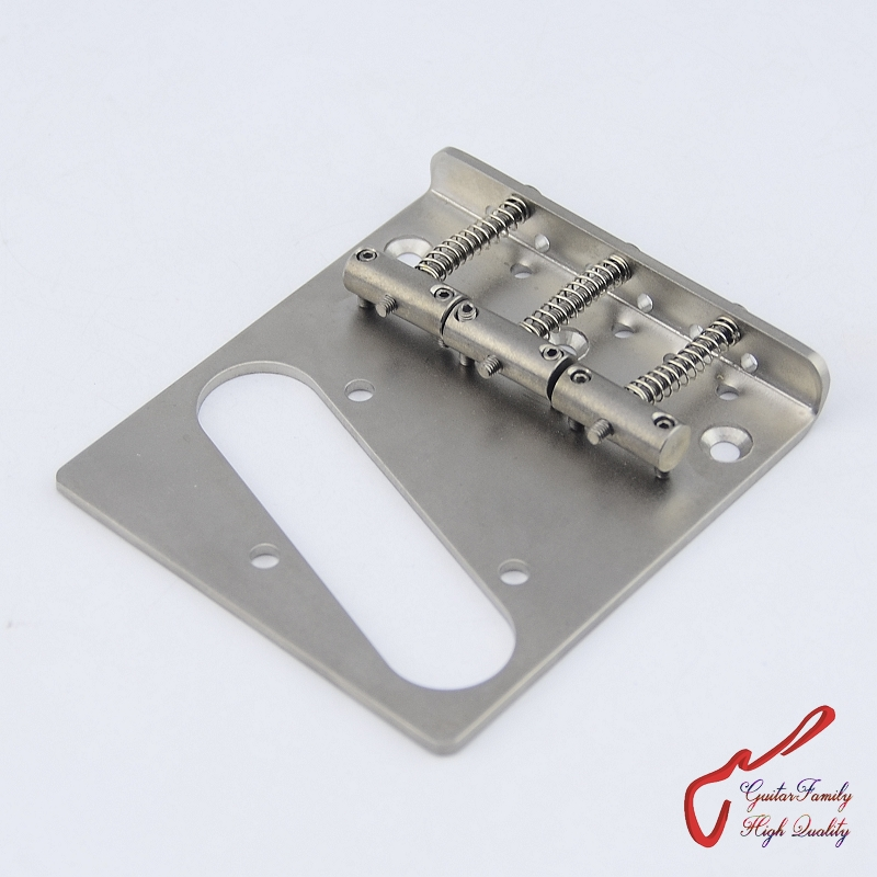 1 Set GuitarFamily Titanium Fixed Electric Guitar Bridge ( #0009 ) MADE IN KOREA free shipping new st electric guitar pickup in white 3s made in south korea art 31