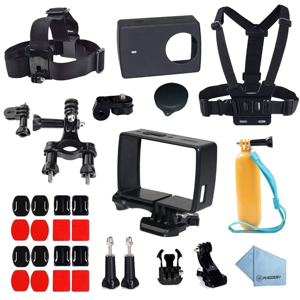 30 in 1 Action Camera Accessories Kit Frame Housing Case Head Strap for Xiaomi Yi 4K/4K+/Yi Lite Action Camera 2