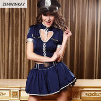 Female Cosplay Sexy Costume Women Wear Sex Clothes for Women Police Sexy Dress Adult Role Play Slutty Lingerie 4 Pieces Set