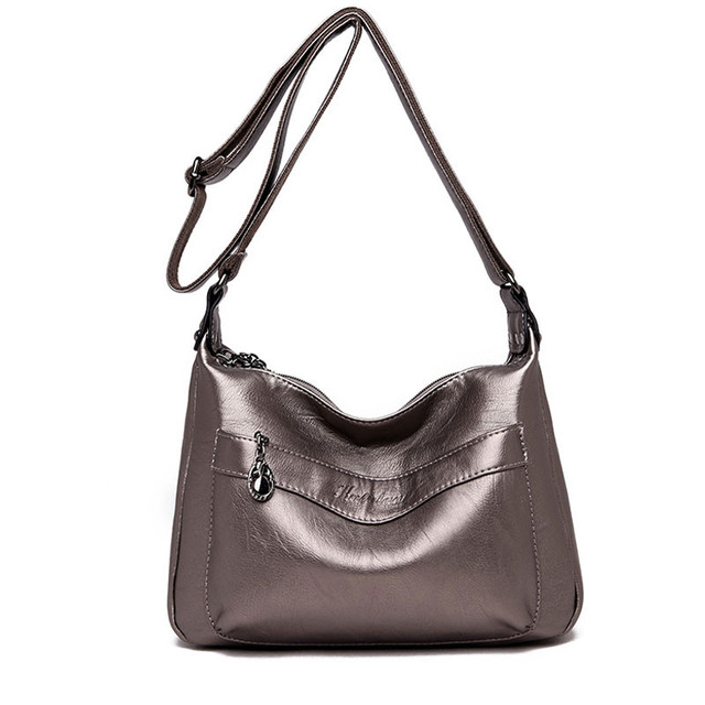 ec665418099d New Fashion Shoulder Bag Women soft Leather Bags Designer Europe America large  capacity Crossbody Messenger Bags