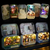 Cutebee DIY Casa miniatura con muebles LED música polvo cubierta modelo bloques de construcción juguetes para niños Casa Newv1-v3