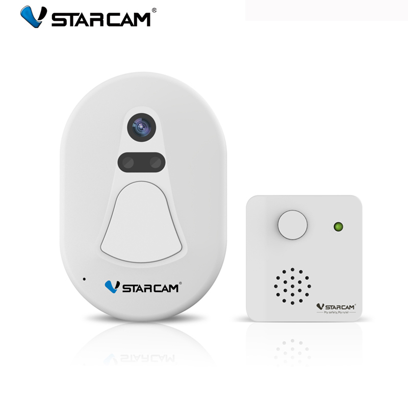 VStarcam D1 Door Camera Day&Night Vision Outdoor Camera+ Indoor Camera,WIFi Camera+RF2.4G Support Remote View Free Cloud Server видеоглазок vstarcam d1