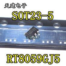 10 adet/grup RT8059GJ5 RT8059 SOT23 5 stokta