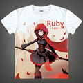 RWBY Ruby T-shirts Japanese Anime t-shirt Manga Shirt Cute Cartoon Red Trailer Cosplay shirts