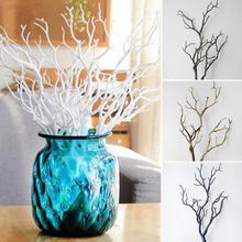 Искусственные ветки деревьев, декоративные сушеные коралловые ветви, пластиковые сушеные ветки деревьев, растения для свадебной вечеринки, украшения дома, отеля