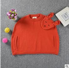 2016 ins spring New Long Sleeve rabbit for baby Girl Sweater Children Cotton sweaters for girls kids clothes fashion style