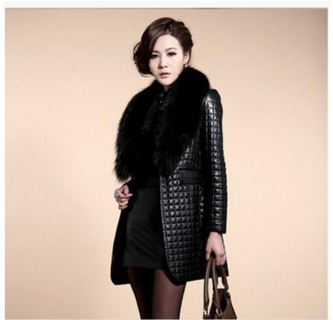 Mouton Veste Plus Coton Noir Vestes Fourrure De Manteau 4xl S Col Pour Femmes D'hiver Imitation Cuir Le 2017 Manteaux Les En TxZSwA88q