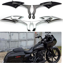2PCS Motorcycle Rearview Mirror Handle Side Mirrors For Harley Sportster Dyna Softail