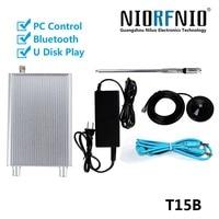 Upgraded Gengeration T15B 1 0 15 Watt Stereo Transmisor FM Broadcast Equipment Audio Cable+Power Adapter+Antenna