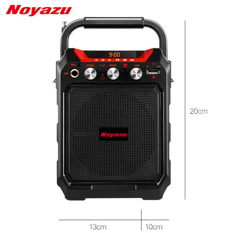Noyazu Wireless Bluetooth Speaker Portable Outdoor Mini Speaker Sound System 3D Stereo Music Support FM TF UDisk Multifunction outdoor portable bluetooth speaker wireless waterproof bass loud speaker 3d hifi stereo subwoofer support tf card fm radio