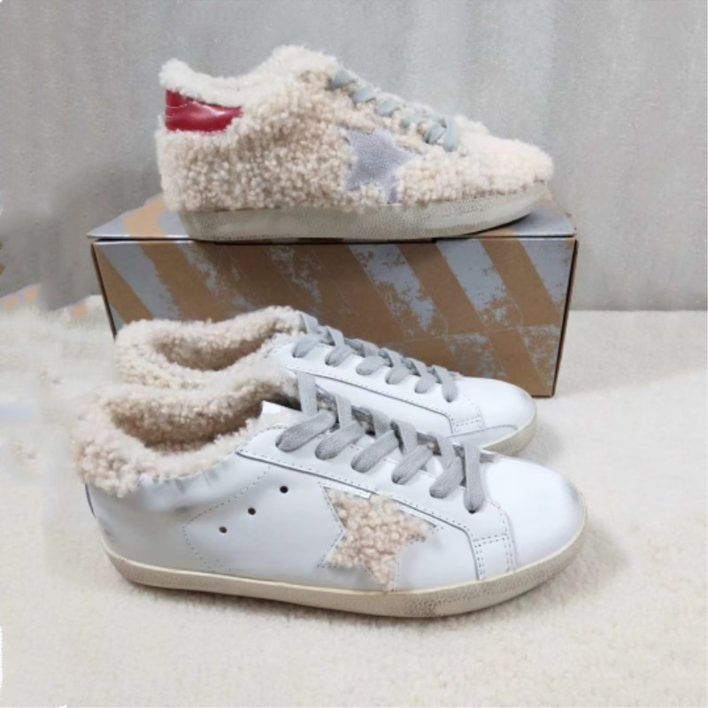 New women's star casual shoes flat spring Korean version of the imitation leather lace retro old dirty shoes wool velvet ladies  : 91lifestyle