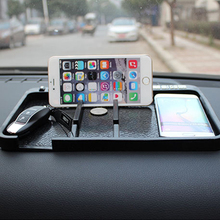 Car Ornaments Non-Slip Mat PVC With Cell Phone Number Auto Anti-slip Pad Decoration Dashboard For Perfume Key 28.5X18.5X1.5CM