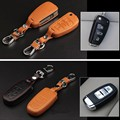 For Audi A1/A3/A4L/A6L/A5/A7/A8Q3/Q5/S5/S6 Car Key Cover Leather Hand Sewing Style Remote Car Key Case Auto Key Chain