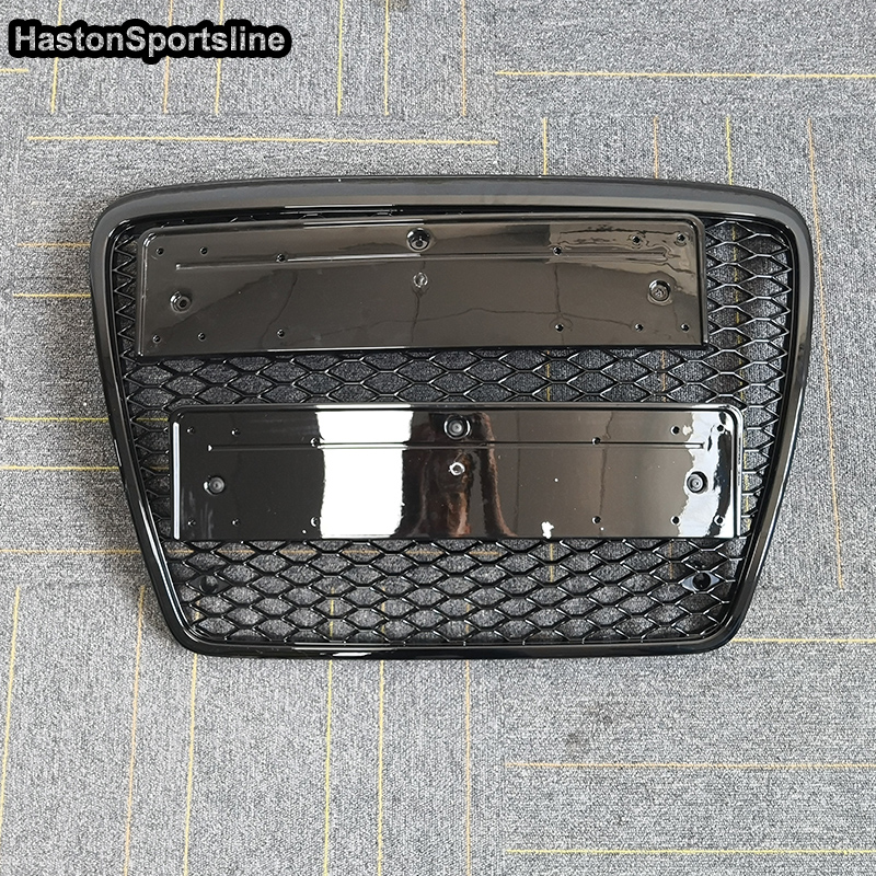 For Audi A6 S6 RS6 2005 2011 RS6 Style Front Bumper mesh Grill Grille Car styling