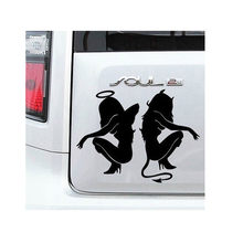 Car Sticker Decoration Hot Classic Sexy Girls Sticker Anger Devil Beauty 16*11cm White Car Decal MAY07(China)