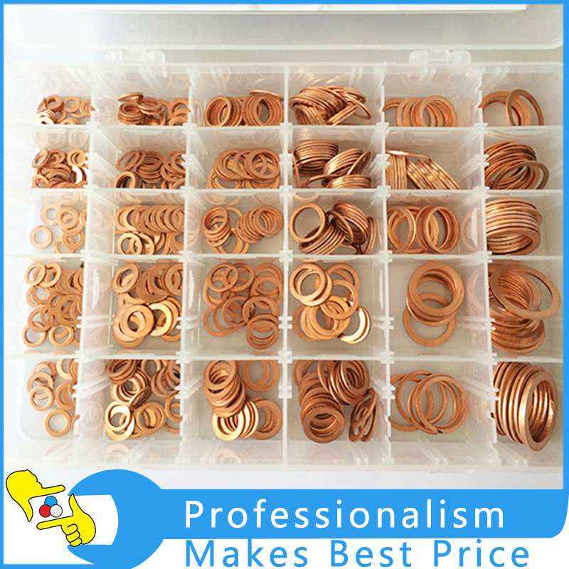 568pcs in one box red copper washer/ brass washer plastic box hardware accessories cookery postcards 100 cookbook covers in one box