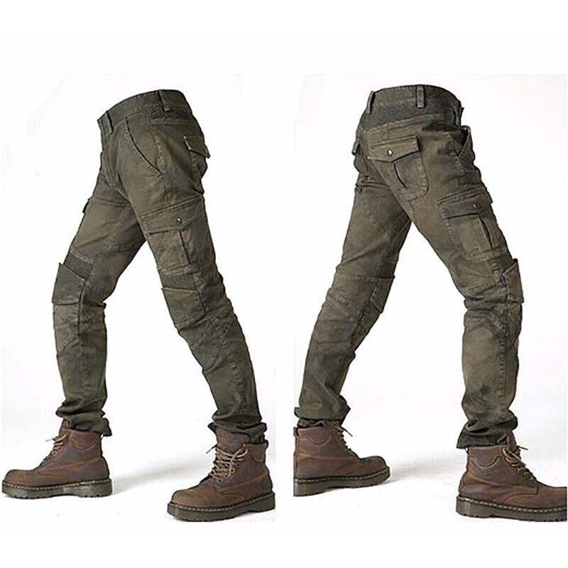 MOTORPOOL Komine UGB 02 Slacks Jeans Motorcycle Ride Jeans Leisure Loose Version With Knee Pads Knight Pants Summer Riding Pant