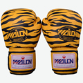 Tiger Stripes Muay Thai Boxing Gloves Men Women Luva Boxeo MMA Fight Martial Arts PU Leather Sanda Mitts Anti-wear Good Quality