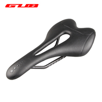 GUUB 124g MTB Bicycle Saddle Fiber Leather Hollow Comfortable Breathable Ultralight Highway Road Cycling Bike Carbon Seat