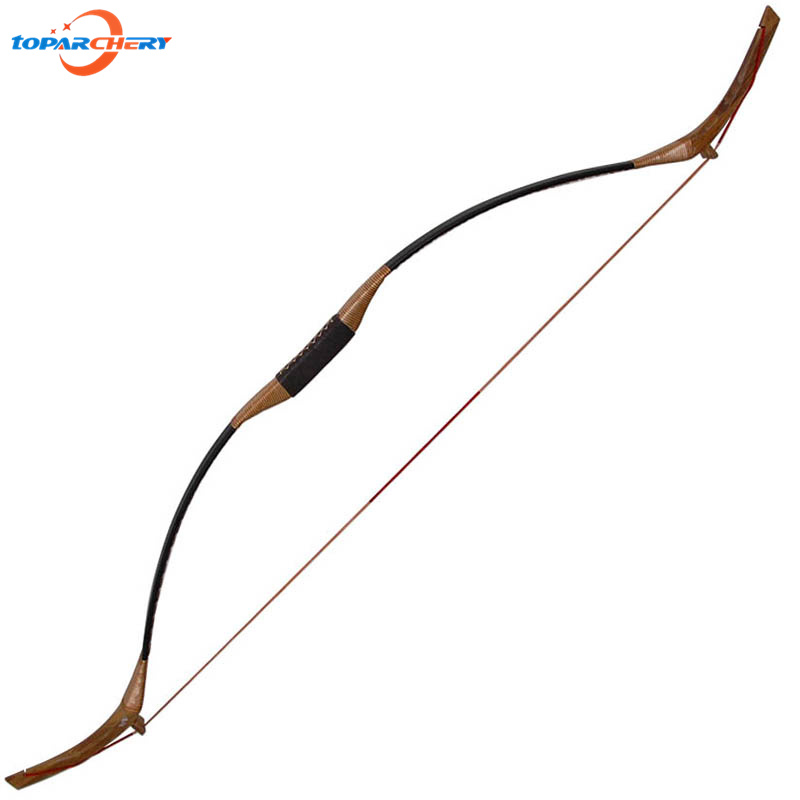Traditional Archery 35lbs 40lbs 45lbs Recurve Wooden Long Bow for Carbon Fiberglass Arrow Hunting Target Shooting Practice Games 35lbs long bow archery hunting black color for adults archery game traditional wooden made hunting bow 1pc