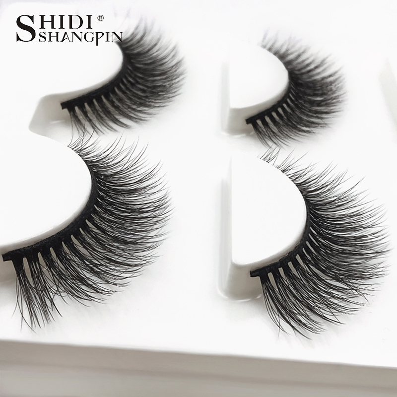 HTB1 QpgXInrK1RkHFrdq6xCoFXaf SHIDISHANGPIN 3 pairs mink eyelashes natural fake eye lashes make up handmade 3d mink lashes false lash volume eyelash extension