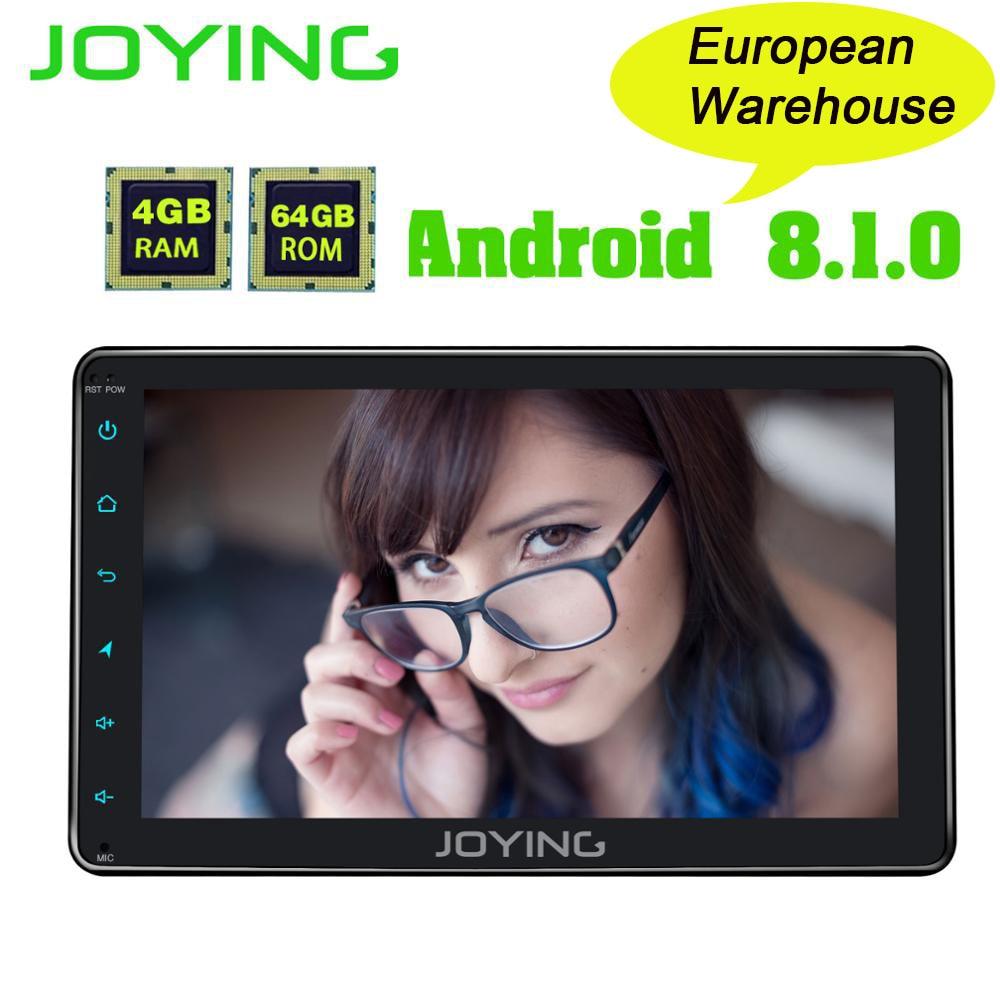 JOYING 4GB RAM 64GB ROM 1 DIN 8 INCH Android 8 1 car Autoradio HD screen