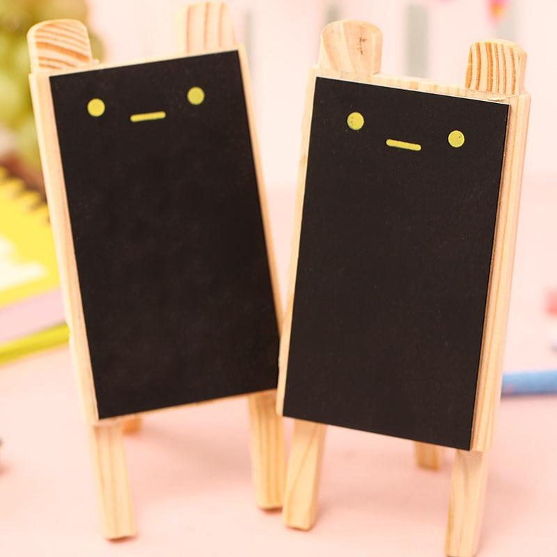 8 Pcs/Lot Small Blackboard Mini Pizarras Cute Rabbit Black Board Wooden Chalkboard Zakka Office Accessories School Supplies 6519
