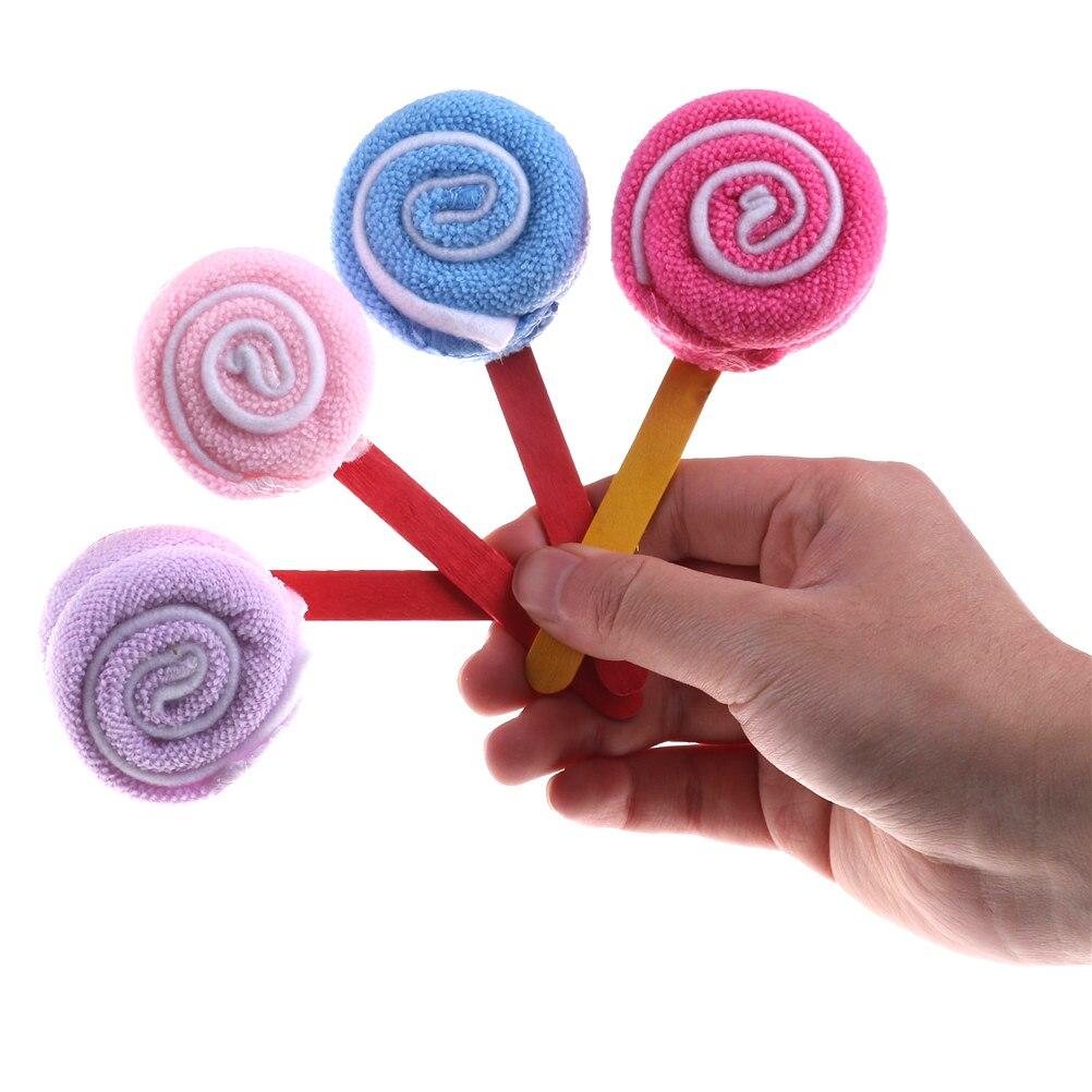1 шт. Baby Shower украшения Свадебные Свадебная вечеринка Сувениры принадлежности Lollipop мочалкой двухцветный маленький леденец полотенце