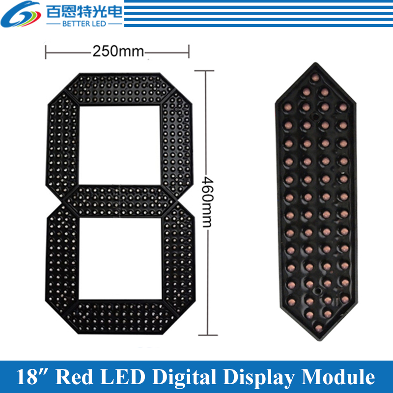 4pcs/lot 18 Red Color Outdoor 7 Seven Segment LED Digital Number Module for Gas Price LED Display module 4pcs/lot 18 Red Color Outdoor 7 Seven Segment LED Digital Number Module for Gas Price LED Display module