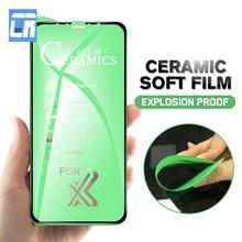 Patlamaya dayanıklı yumuşak seramik filmi iPhone 7 8 6 6S artı Anti parmak izi mat Film iPhone X için XS MAX XR ekran koruyucu