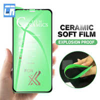 Película de cerámica suave a prueba de explosiones para iPhone 7 8 6 6S Plus película mate Anti huellas dactilares para iPhone X XS MAX XR Protector de pantalla