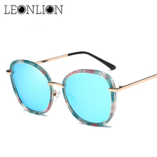 6027c826ccac28 LeonLion Fleur Top Designer Femmes lunettes de Soleil Ronde Bonbons Lunettes  de Soleil Pour Femmes Classique Rétro Lunettes Femi.