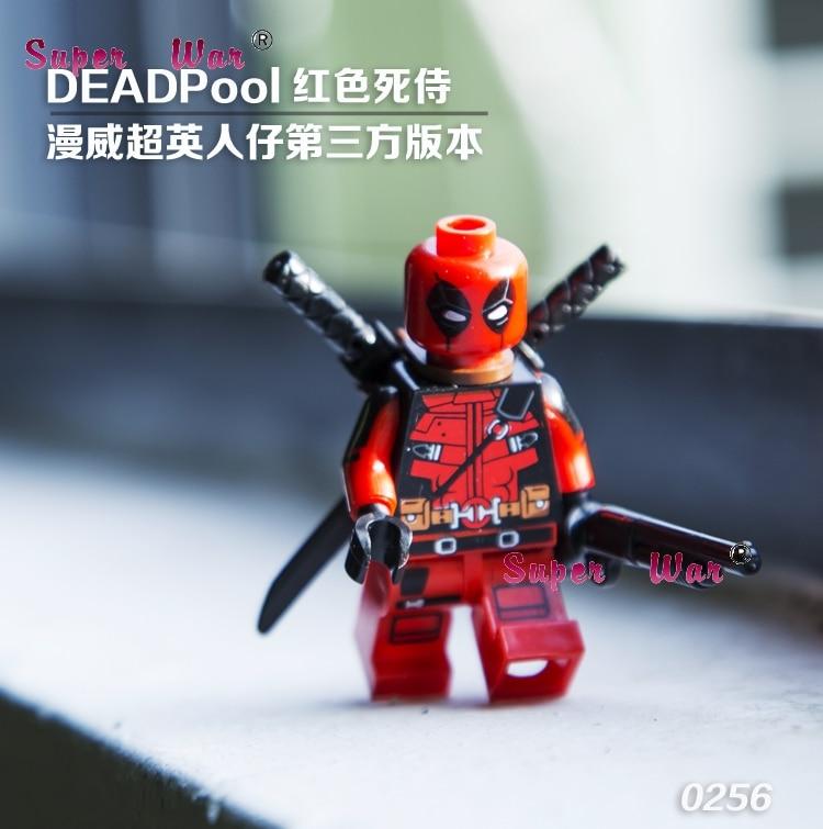 20pcs star wars superhero marvel Decool Armed Deadpool building blocks action figure bricks model educational diy baby toys
